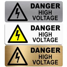 Danger High Voltage-WITH IMAGE-Aluminium Metal Sign-Door,Notice,Shop,Office,Business,Health,Safety